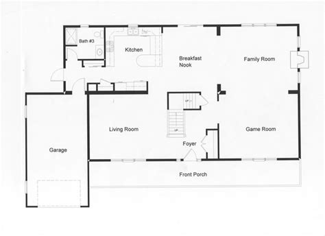 simple open floor plans 4 bedroom floor plans monmouth county county new