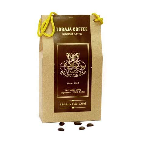 jual kupu kupu bola dunia toraja coffee tas 200 gr harga kualitas