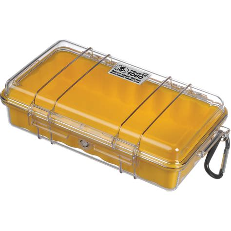 pelican micro cases pelican 1060 clear micro yellow 1060 027 100 b h photo