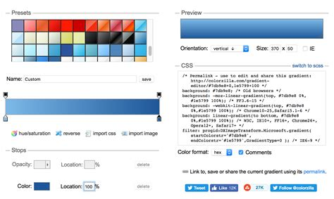 creating css online create css gradients using an online tool the robservatory