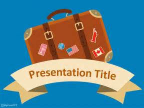 powerpoint template travel free travel plan powerpoint templates myfreeppt