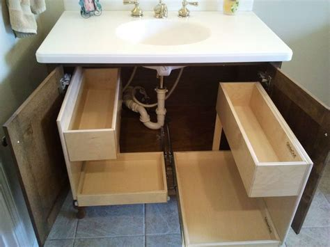 bathroom vanity slide out shelves 25 best ideas about pull out shelves on small