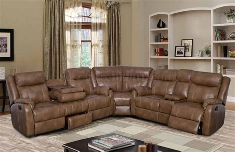 motion sectional sofas u7303c motion sectional sofa in walnut leather gel by global