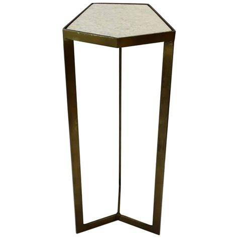 minimalist side table minimalist geometric side table with white granite marble