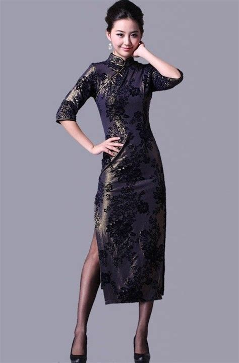 Sleeve Qipao 3 4 sleeve qipao cheongsam evening dress qipao