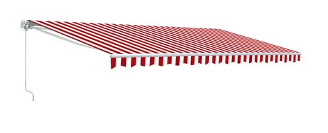 make your own awning aleko retractable patio awning red and white stripes
