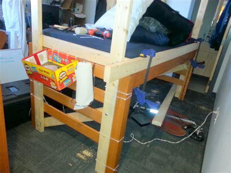 college dorm bed frame boring old college dorm room bed becomes 4 poster bed