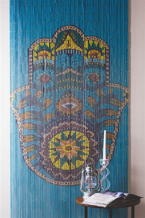hippie beaded door curtains walls doorways or just anywhere these painted door