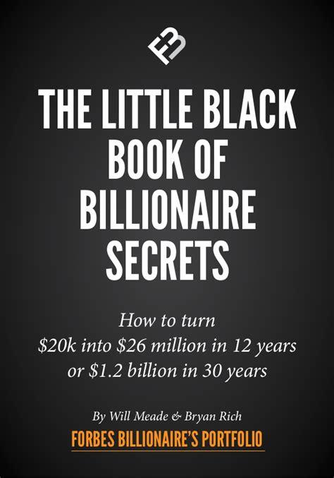 the little black book 0061234907 the little black book of billionaire secrets
