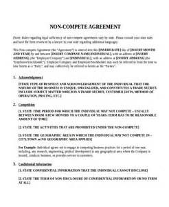 non compete template 12 non disclosure agreement templates free sle