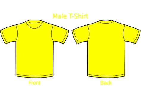 I Monday Yellow Shirt plain front and back of a t shirt studio design