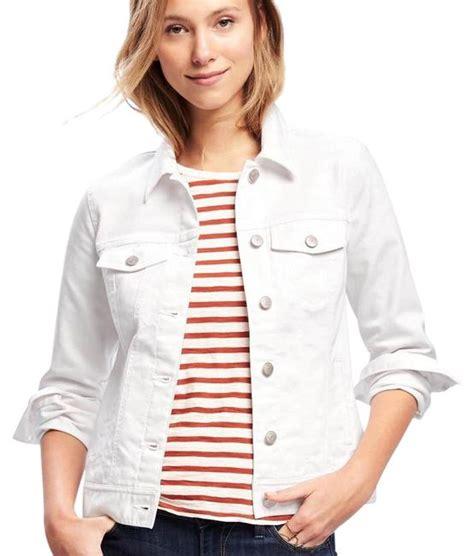 Gap White Denim Jacket gap denim white womens jean jacket