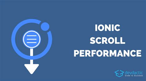 ionic scroll tutorial increase ionic scroll performance with virtual scroll