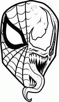 venom coloring pages how to draw and venom step 13 rajz