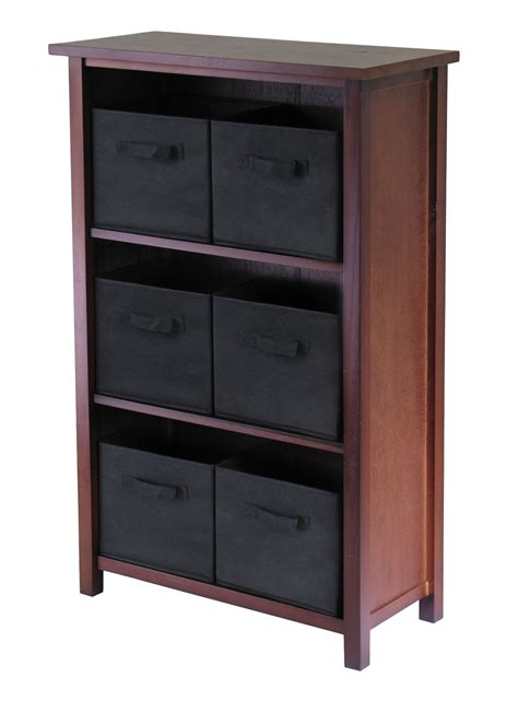 verona 6 basket storage shelf in shelves with baskets