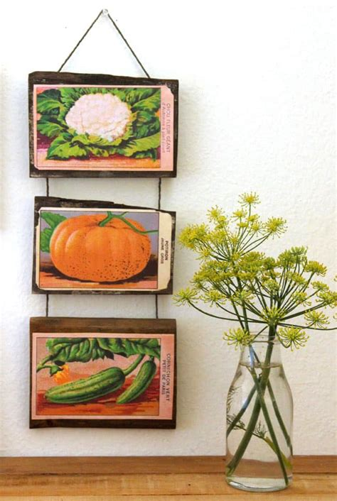 printable vintage french seed packets wall decor