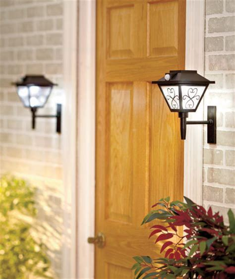 solar front door light 2 in 1 motion sensored solar powered front door or garden