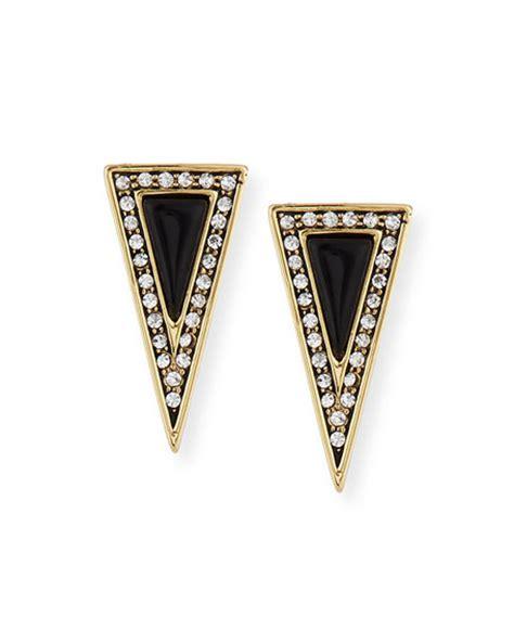 house of harlow acute triangle stud earrings