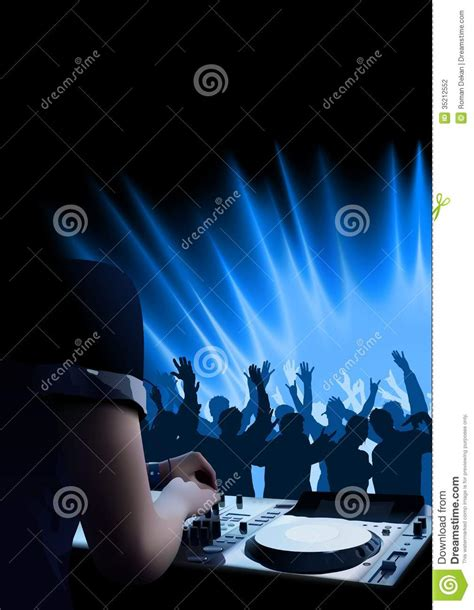dance party light show dj dance party background stock photography image 35212552