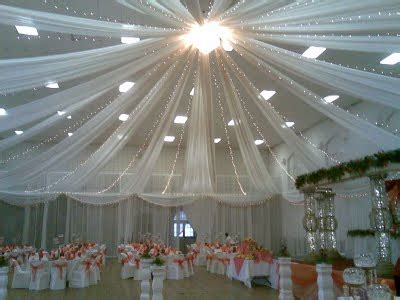 tulle draping tulle ceiling drape with christmas lights wedding