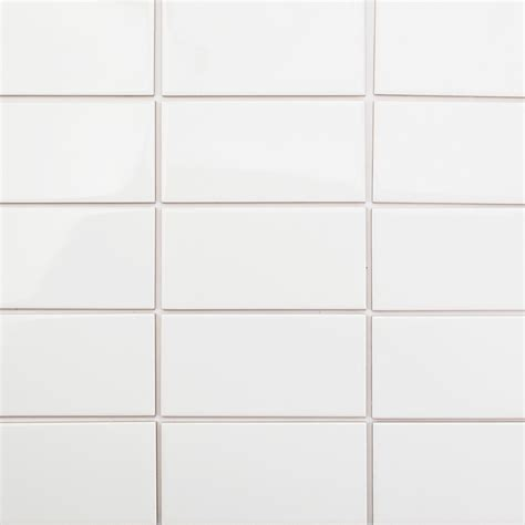 basic 3x6 white ceramic tile