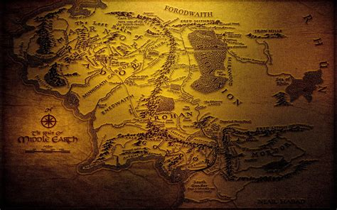 lord of the rings middle earth map the hobbit home decor map of middle earth wallpapers wallpaper cave