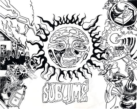 sublime sun coloring page sublime tattoo design by lorr on deviantart