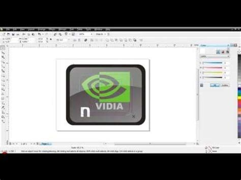 tutorial membuat video klip video tutorial membuat logo nvdia menggunakan corel draw