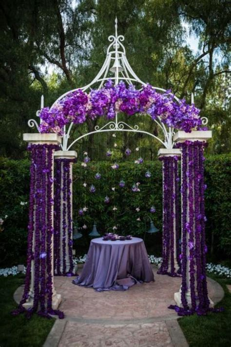 Wedding Arch Purple by Ceremony Altar Decor 2042458 Weddbook