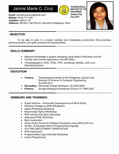 Model Resume Format by 13 Unique New Model Resume Format Resume Sle Ideas