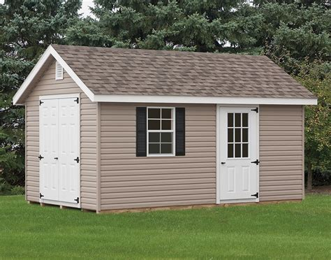 vinyl siding deluxe estate sheds sheds by siding
