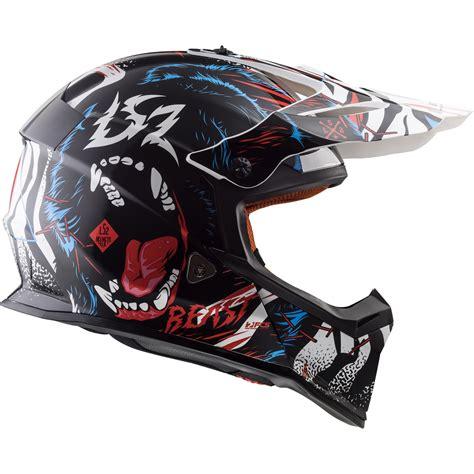 ls2 motocross helmets ls2 mx437 fast beast motocross helmet road enduro