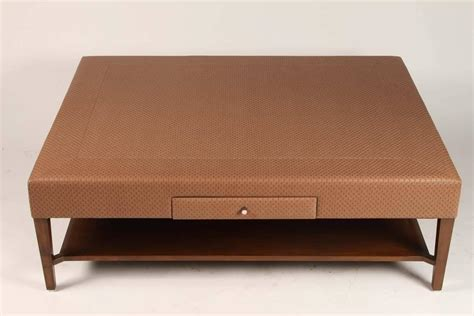 upholstered bench coffee table large scale upholstered coffee table for sale at 1stdibs