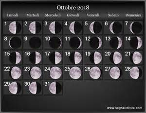 Calendario Fasi Lunari 2018 Calendario Lunare 2018 Fasi Lunari