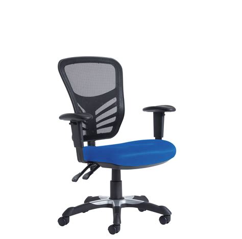 Office Chair Adjustment Levers by Vantage 2 Lever Mesh Chair With Adjustable Arms Blue Three Counties Office Furniture