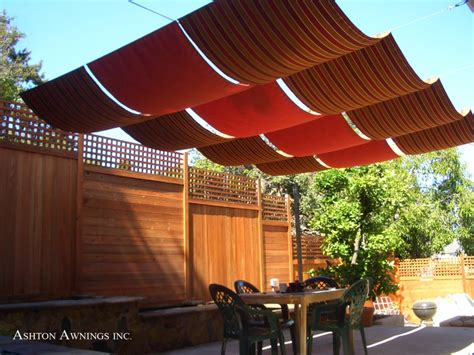 canvas patio awnings my next big backyard project fabric is on its way