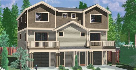 5 Bedroom House Plans With Bonus Room by Town House And Condo Plans Multi Family And Townhome