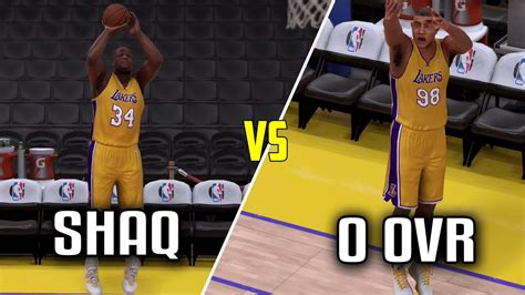 Mba 2k17 Can U Be In 3 Point And Dunk by Can Shaq Beat A 0 Overall Player In A Three Point Contest