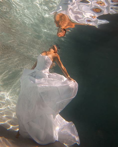 incredible underwater trash the dress photos bridalguide incredible underwater trash the dress photos bridalguide