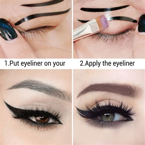 eyeliner template the 25 best ideas about winged eyeliner stencil on