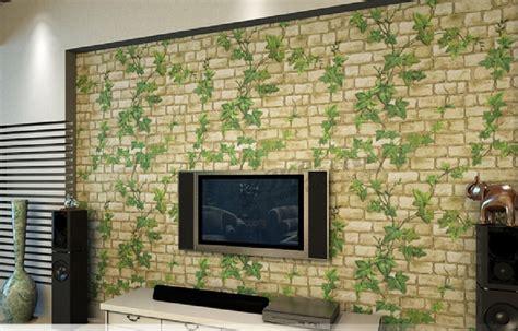 Design Brick Wallpaper Ideas Home 2015 New 3d Self Adhesive Wallpaper Leaf Brick