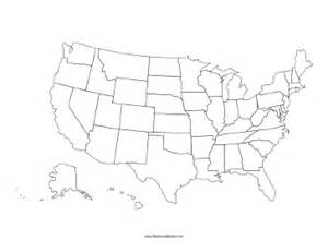 america map blackline master united states blackline map