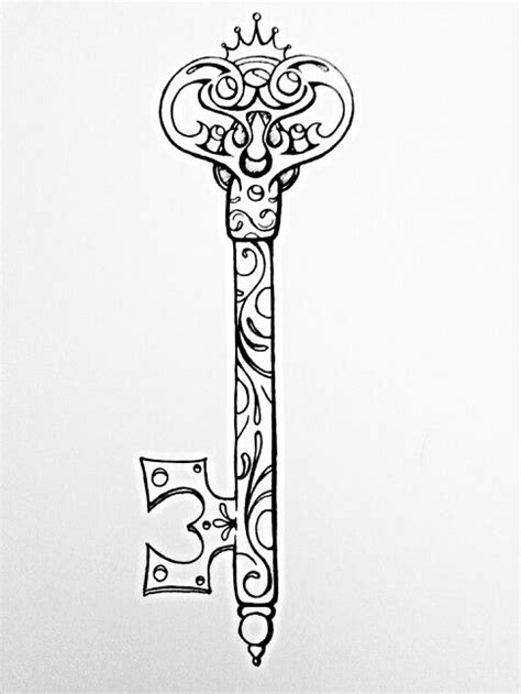 easy key tattoo possible key tattoo design beautiful things pinterest