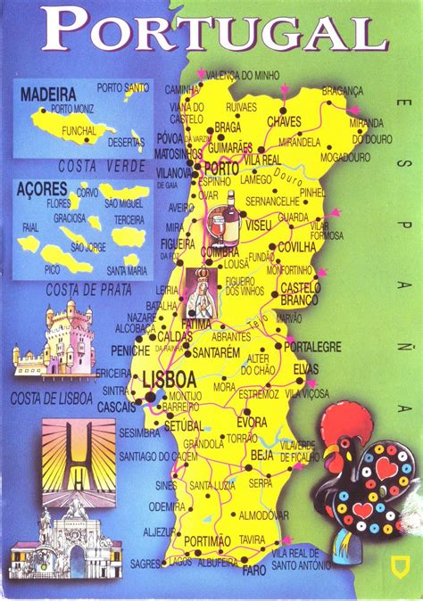 map of azores maps update 7001100 tourist attractions map in portugal