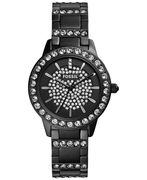 fossil s accent black tone stainless