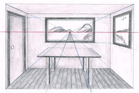 one point perspective room drawing professionally easy peasy all in one high school