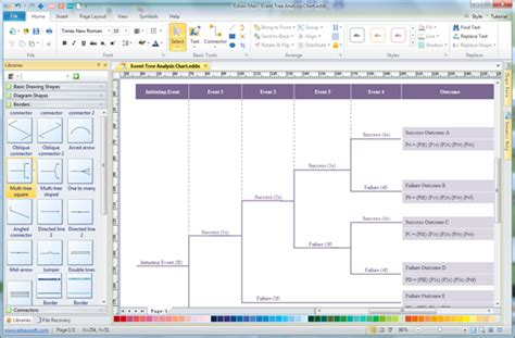 tree structure software simple event tree diagram software make great looking