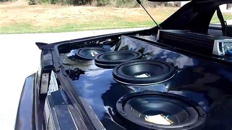 camaro custom sub box custom camaro sub box demo