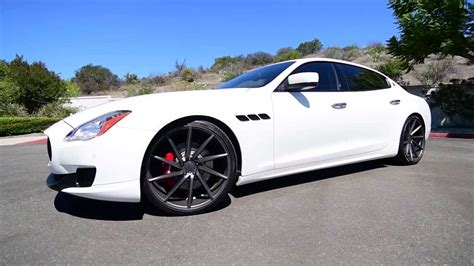 maserati quattroporte wheels maserati quattroporte on vossen wheels youtube