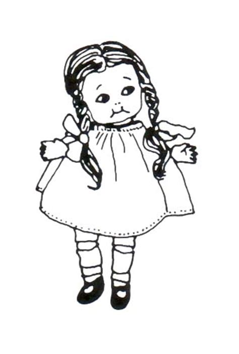 black doll and white doll doll clipart black and white
